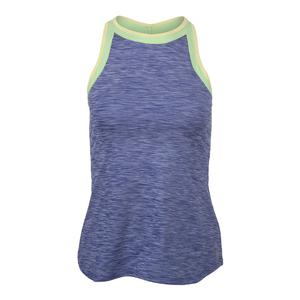Women`s High Top Tennis Tank Royal Blue and Paradise Green