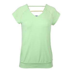 Women`s V-Back Tennis Tee Paradise Green