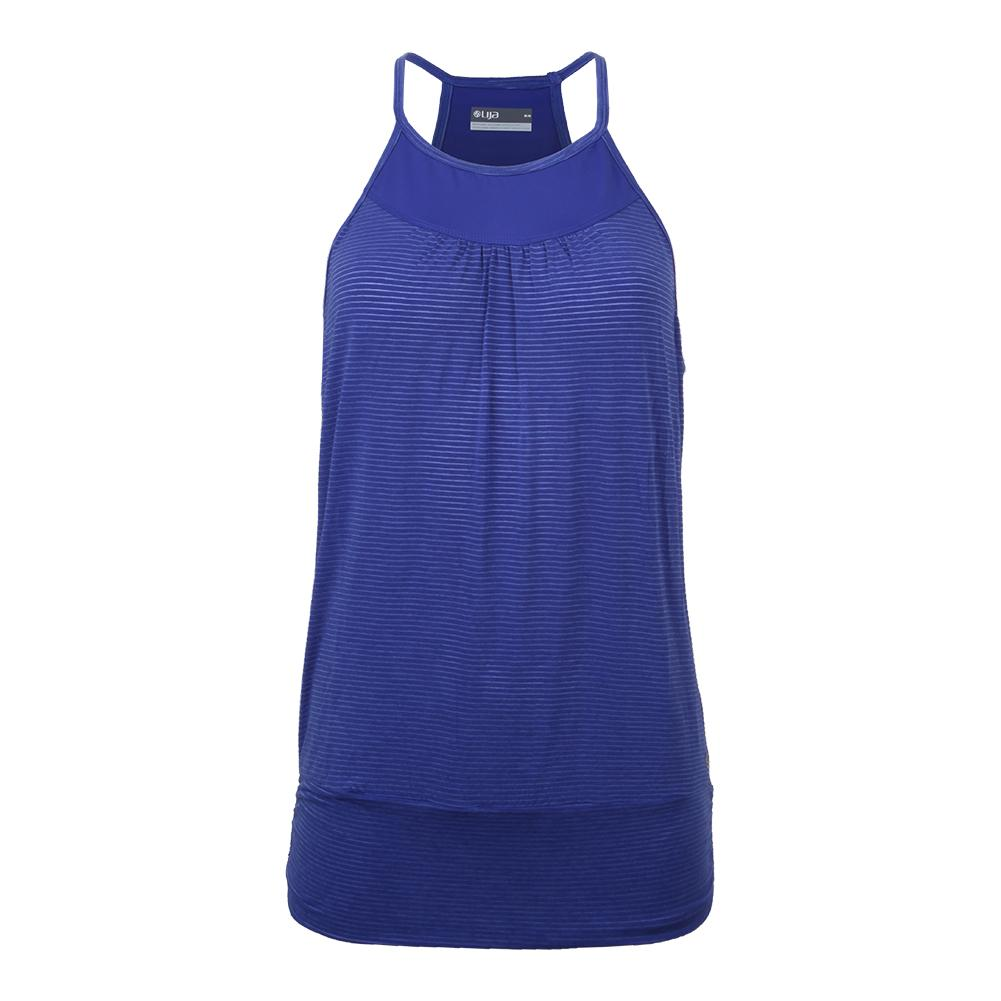 Women's Banded Tennis Tank Royal Blue