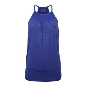 Women`s Banded Tennis Tank Royal Blue