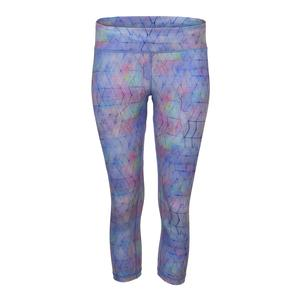 Women`s No Fear Tennis Capri Shibori Print