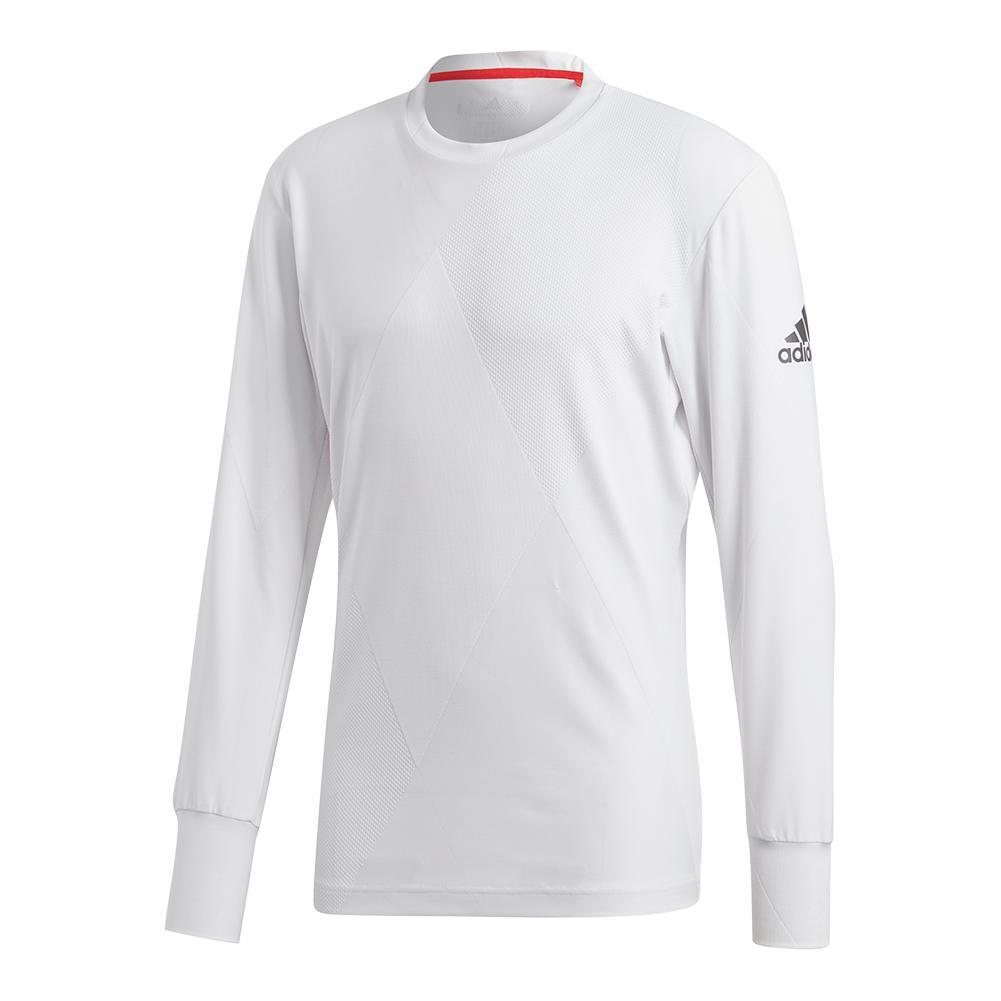 Men's Barricade Long Sleeve Tennis Top White