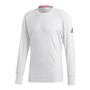 Men`s Barricade Long Sleeve Tennis Top White