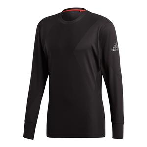 Men`s Barricade Long Sleeve Tennis Top Black