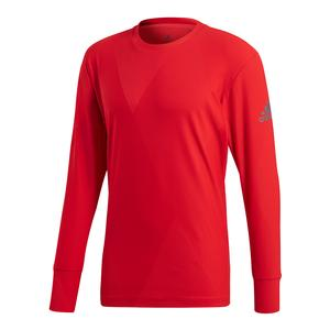 Men`s Barricade Long Sleeve Tennis Top Scarlet