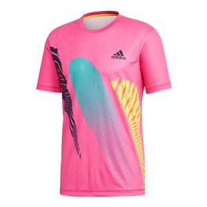 Men`s Seasonal Tennis Tee Shock Pink