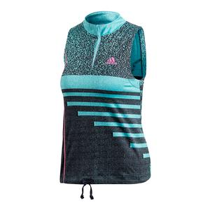Women`s Seasonal Tennis Tank Hi-Res Aqua and Legend Ink