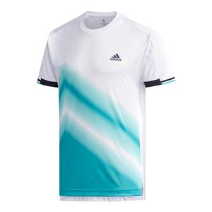 Men`s Club Tennis Tee 2 White and Hi-Res Aqua