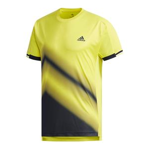 Men`s Club Tennis Tee 2 Shock Yellow and Legend Ink