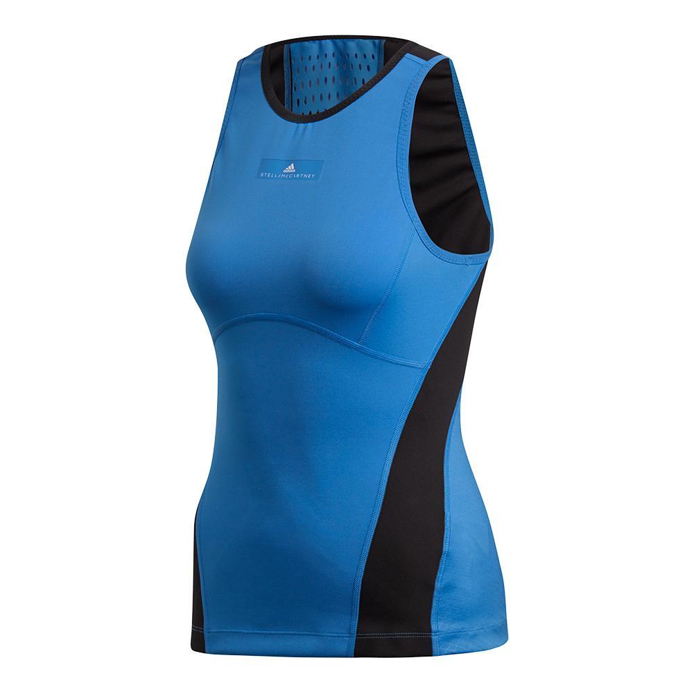 Women's Stella Mccartney Tennis Tank Ray Blue- Sid And Black