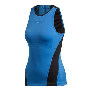 Women`s Stella McCartney Tennis Tank Ray Blue-Sid and Black