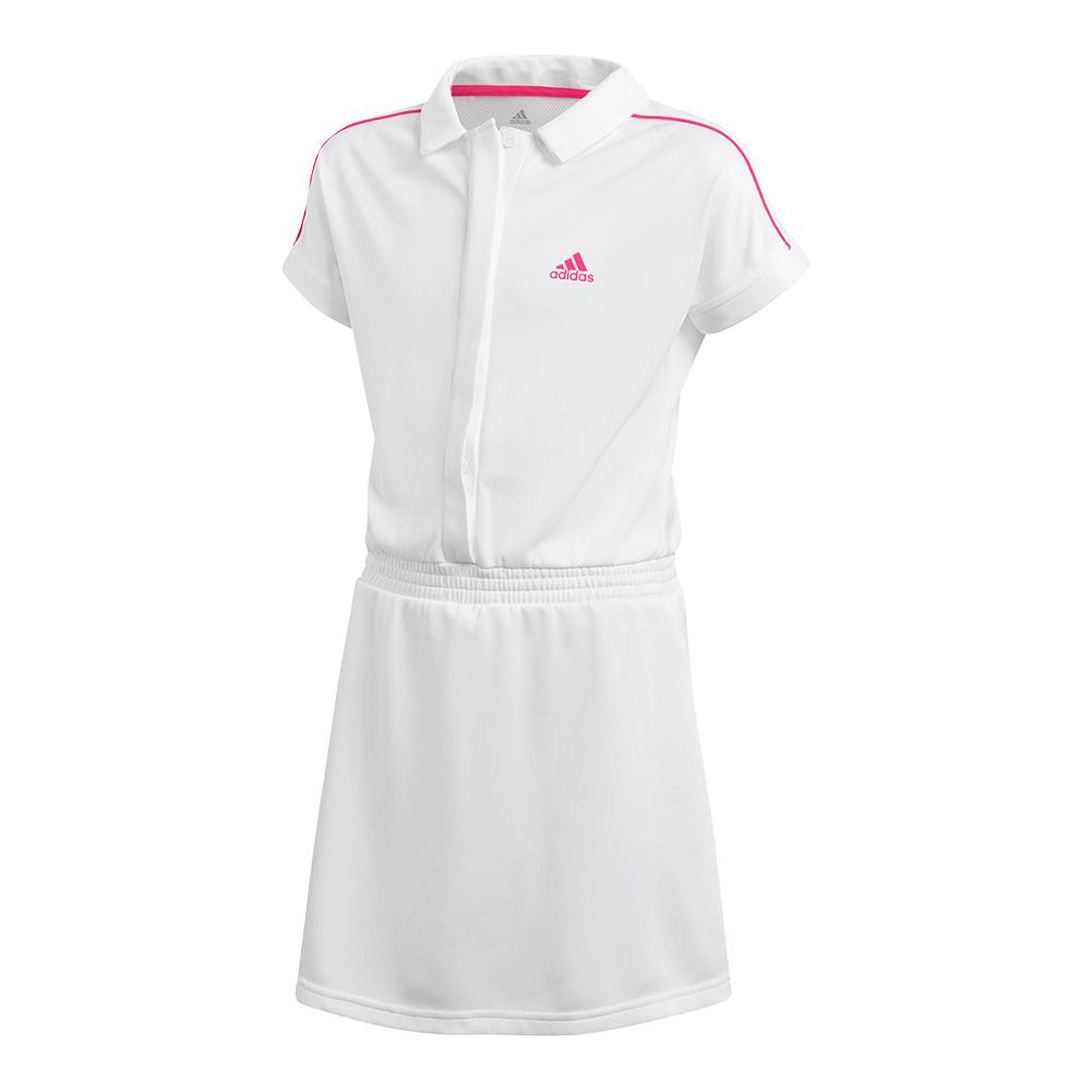 Girls'seasonal Tennis Dress White