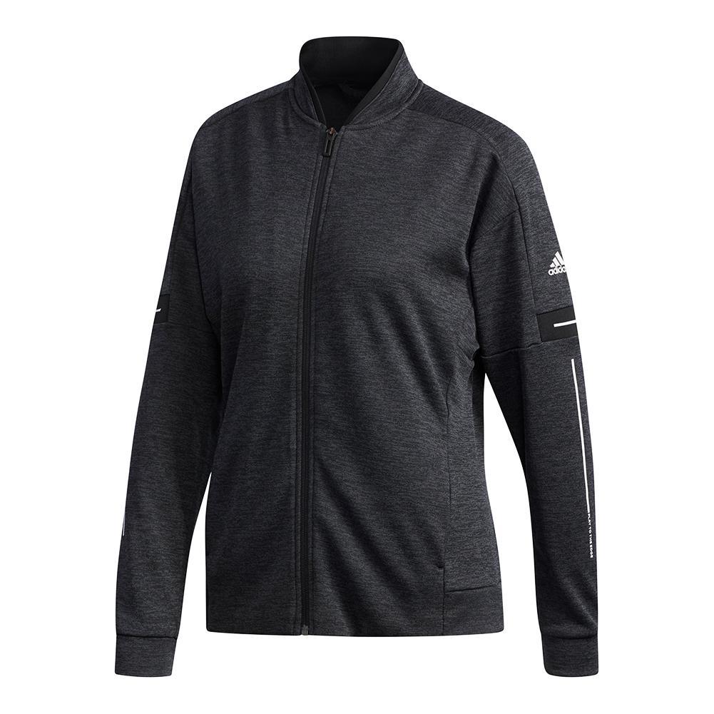 Women's Club Knit Tennis Jacket Black