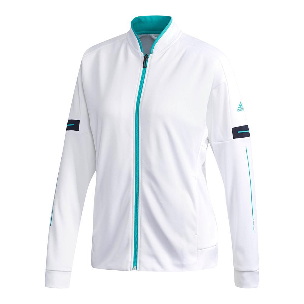 Women's Club Knit Tennis Jacket White