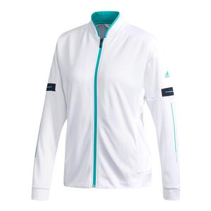 Women`s Club Knit Tennis Jacket White