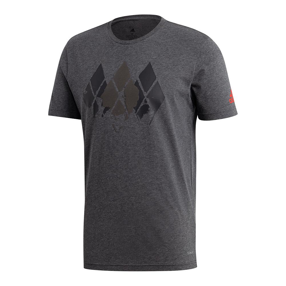 Men's Barricade Tennis Tee Dark Gray Heather