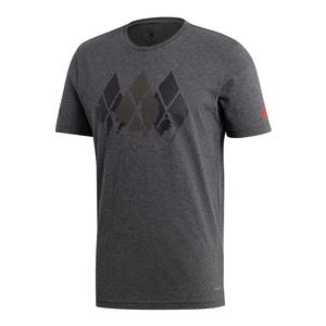 Men`s Barricade Tennis Tee Dark Gray Heather