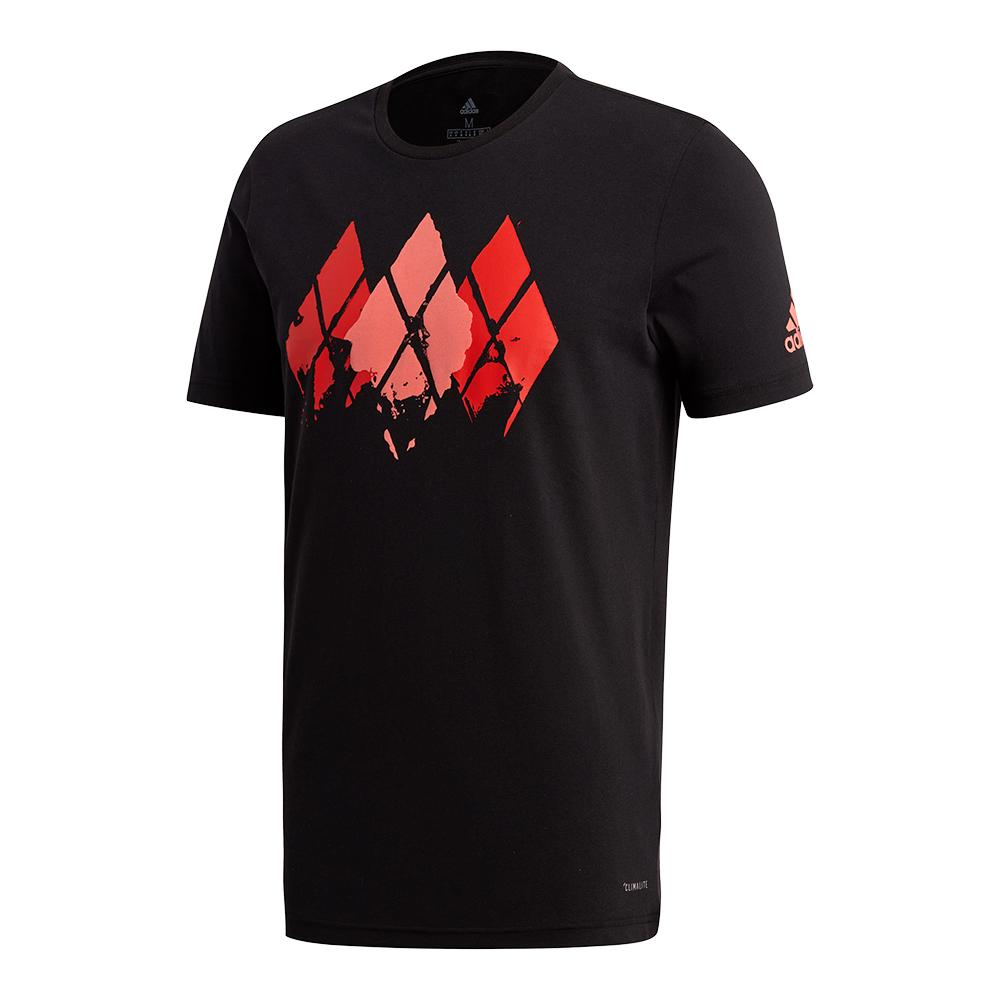 Men's Barricade Tennis Tee Black