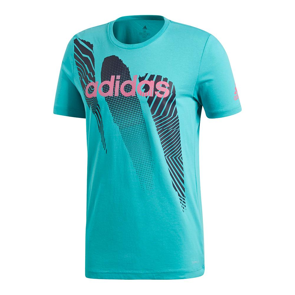 Men's Seasonal Tennis Tee Hi- Res Aqua