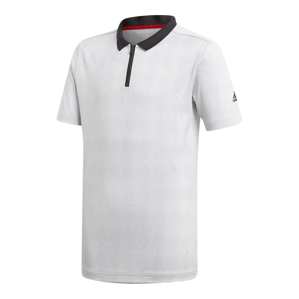 Boys ` Barricade Tennis Polo Gray Two
