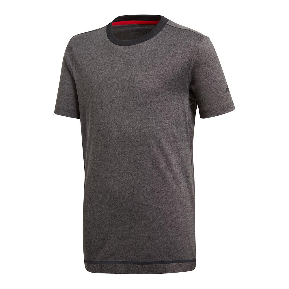 Boys ` Barricade Tennis Tee Black Heather
