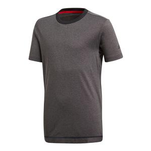 Boys` Barricade Tennis Tee Black Heather