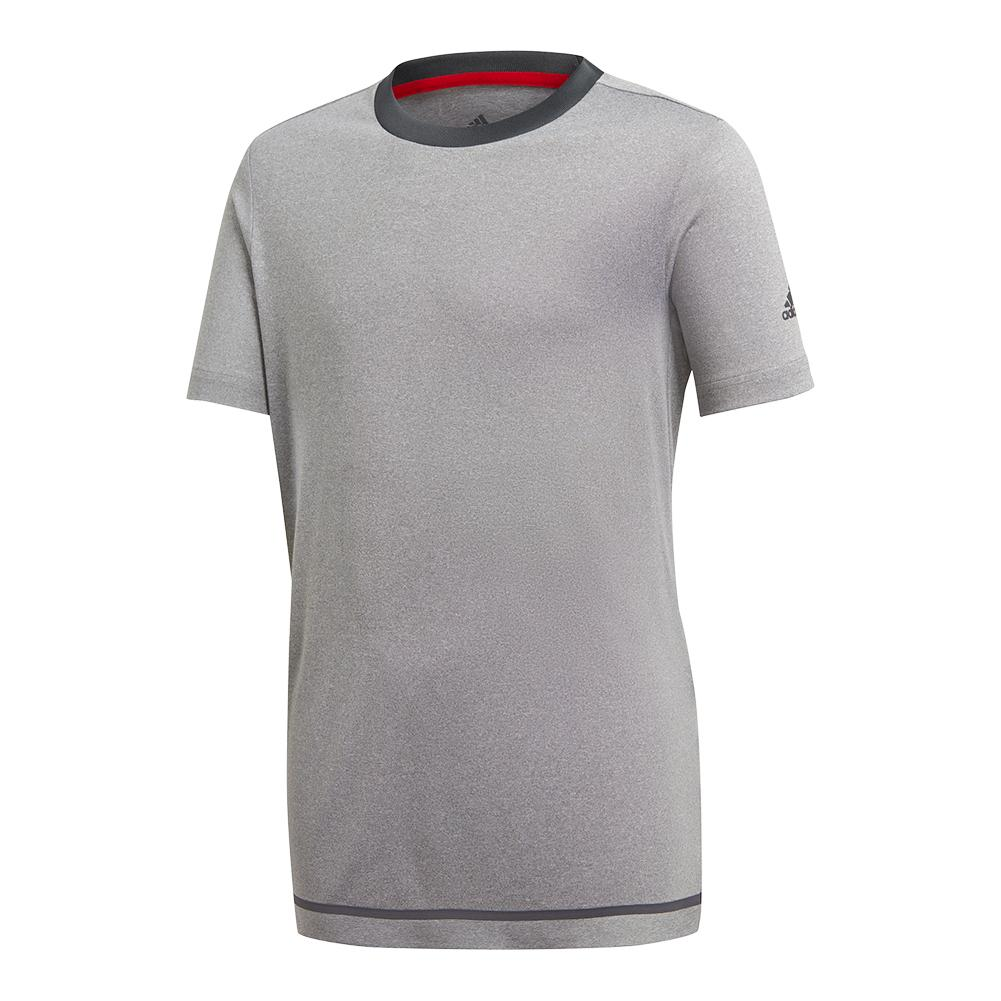 Boys ` Barricade Tennis Tee Light Gray Heather