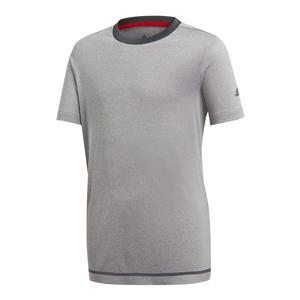 Boys` Barricade Tennis Tee Light Gray Heather