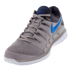 Men`s Air Zoom Vapor X Tennis Shoes Atmosphere Gray and Photo Blue