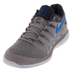 Juniors` Air Zoom Vapor X Tennis Shoes Atmosphere Gray and Photo Blue