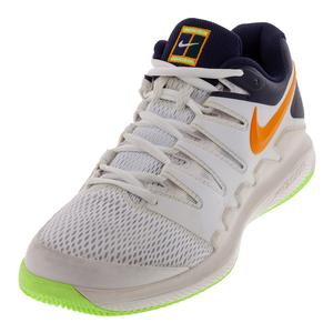 Men`s Air Zoom Vapor X Tennis Shoes Phantom and Orange Peel