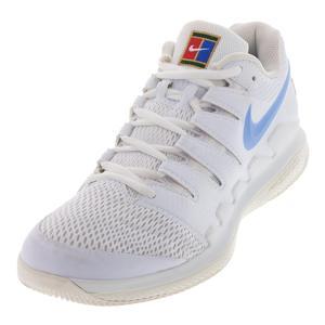 Juniors` Air Zoom Vapor X Tennis Shoes White and University Blue