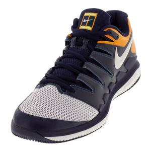 Men`s Air Zoom Vapor X Tennis Shoes Blackened Blue and Phantom