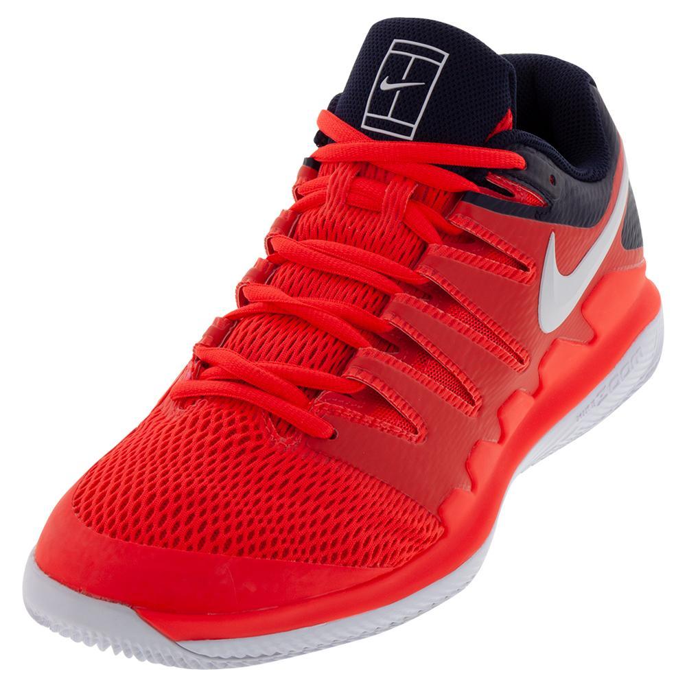 Juniors ` Air Zoom Vapor X Tennis Shoes Bright Crimson And White