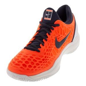Men`s Zoom Cage 3 Tennis Shoes Hyper Crimson and Gridiron