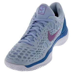 Women`s Zoom Cage 3 Tennis Shoes Royal Tint and Monarch Purple