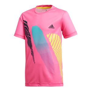 Boys` Seasonal Tennis Tee Shock Pink