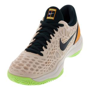 Women`s Zoom Cage 3 Tennis Shoes Guava Ice and Midnight Spruce