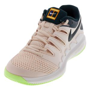Women`s Zoom Vapor X Tennis Shoes Guava Ice and Midnight Spruce