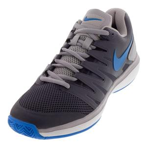 Juniors` Air Zoom Prestige Tennis Shoes Gridiron and Photo Blue