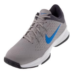 Men`s Air Zoom Ultra Tennis Shoes Atmosphere Gray and Photo Blue