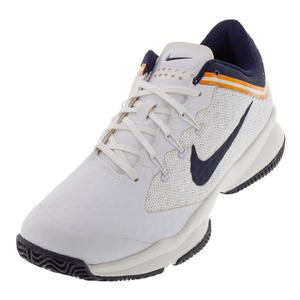 Juniors` Air Zoom Ultra Tennis Shoes White and Blackened Blue