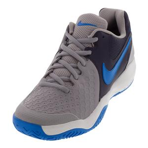 Men`s Air Zoom Resistance Tennis Shoes Atmosphere Gray and Photo Blue