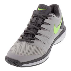 Women`s Air Zoom Prestige Tennis Shoes Vast Gray and Volt Glow