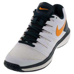 Women`s Air Zoom Prestige Tennis Shoes White and Orange Peel