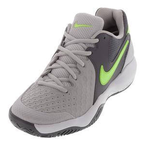 Women`s Air Zoom Resistance Tennis Shoes Vast Gray and Volt Glow