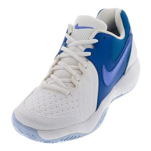 Women`s Air Zoom Resistance Tennis Shoes White and Monarch Purple