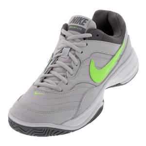 Women`s Court Lite Tennis Shoes Vast Gray and Volt Glow