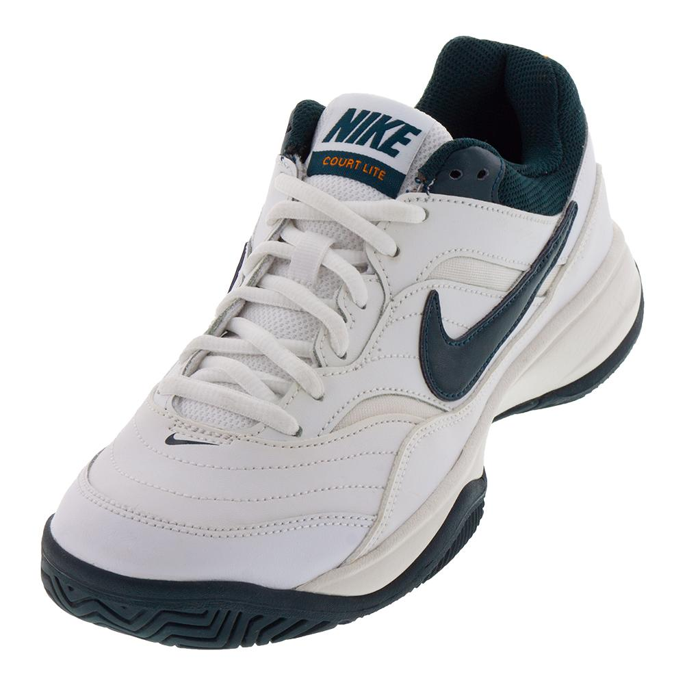 Women's Court Lite Tennis Shoes White And Midnight Spruce