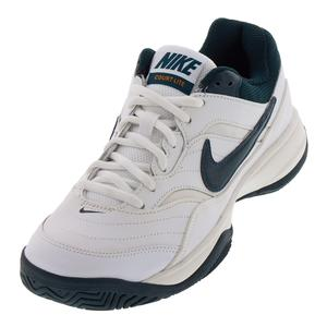 Women`s Court Lite Tennis Shoes White and Midnight Spruce